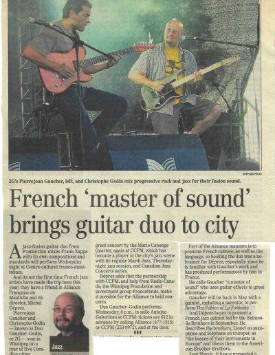 article tournée 2G au Canada (2005)