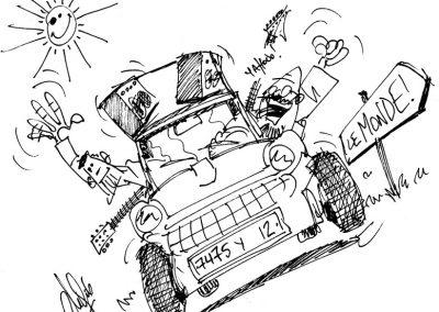 les 2G en BD (dessin de C.Godin)
