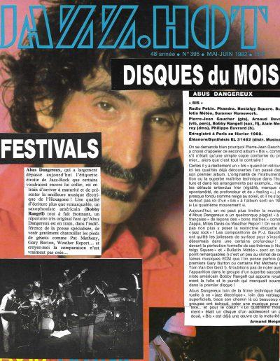 revue disque Abus Dangereux (1982)