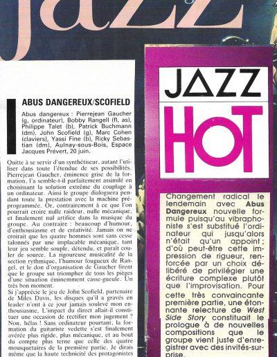 article concert Abus Dangereux (1986)