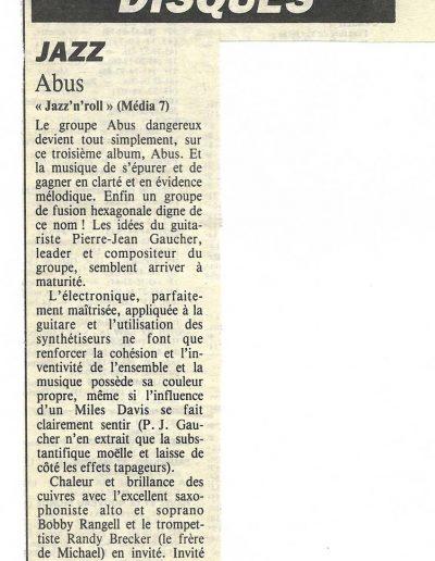 revue CD Abus (1987)