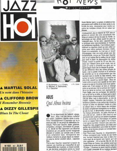 article tournée Abus 1989