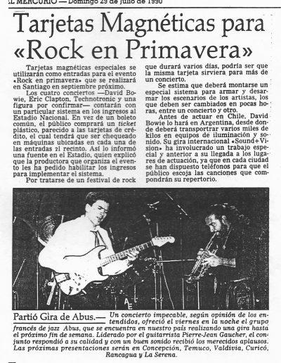 article tournée Abus au Chili (1990)