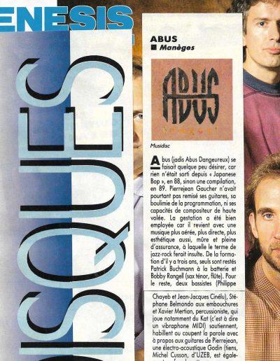 revue CD Abus 1991
