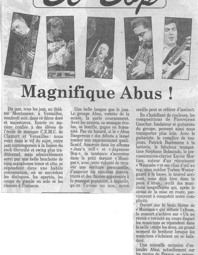 article tournée Abus 1991