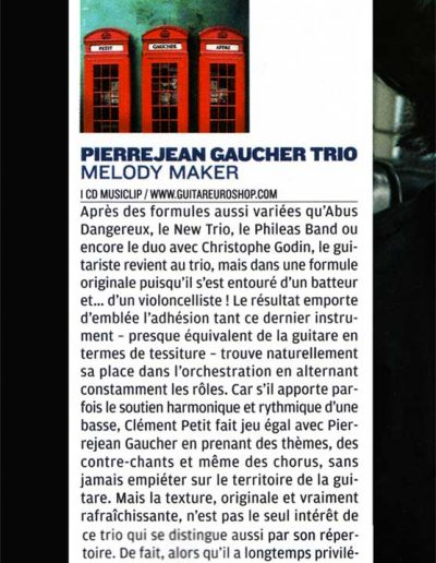 Chronique CD jazzmag 2009