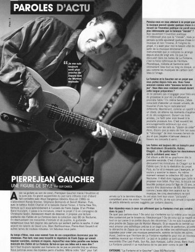 interview dans Musiq (2005)