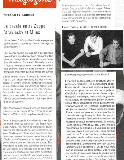 interview New Trio (Jazzmag 1994)