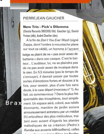 revue CD New Trio (Jazzmag 1996)