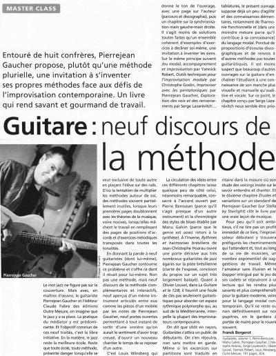 revue livre Guitaristes 1 (Jazzman-2003)
