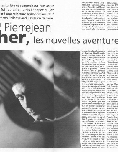Interview PJ.Gaucher (Jazzman-2000)