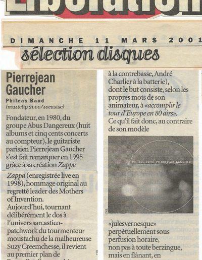 revue CD Phileas Band (Libération-2001)