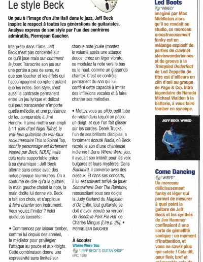 article Jeff Beck Jazzmag