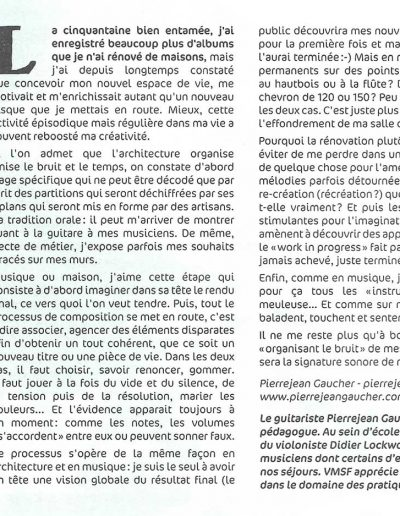texte pour gazette VMSF