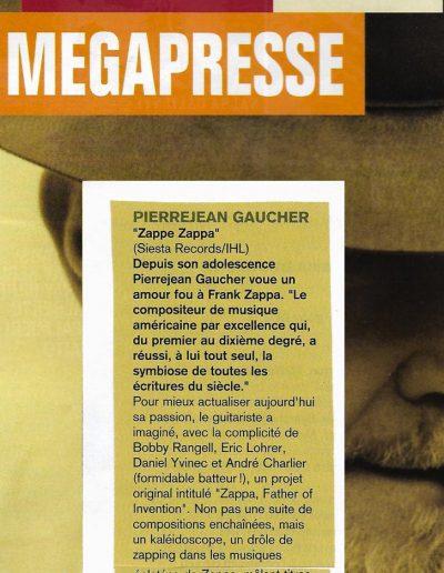 revue CD Zappe Zappa (1998)
