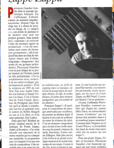 article Zappe Zappa (Jazzman-1996)