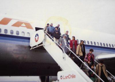 Abus tournée Chili 1991 (PJG-S.Belmondo-X.Mertian-JJ.Cinélu-P.Buchmann)