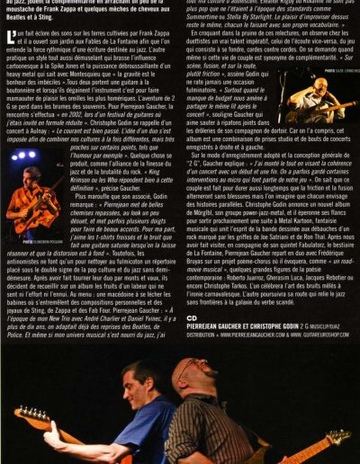 article tournée 2G Jazzmag (2007)