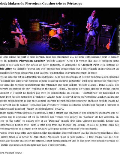 revue de concert Jazz Rhone Alpes 2010