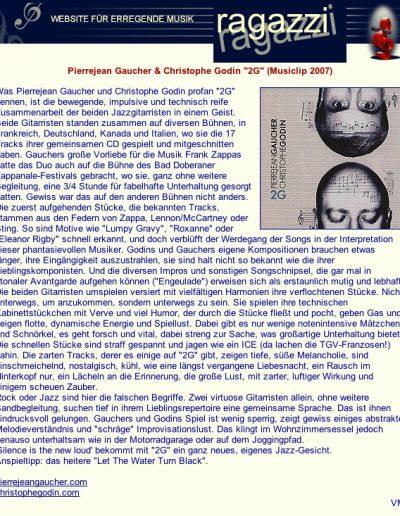 revue du CD 2G (2007)