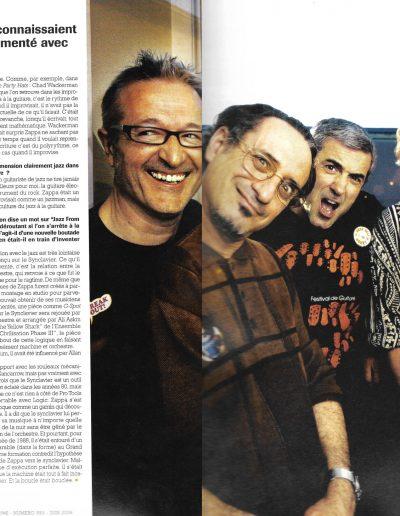 Interview sur Zappa (Jazzmag 2012)