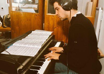 en studio avec Thibault Gomez