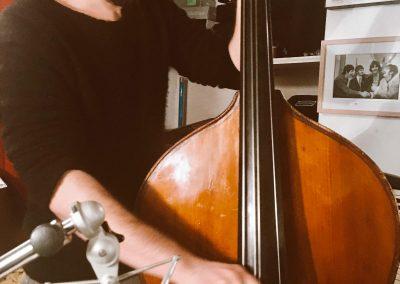 en studio avec Alexandre Perrot