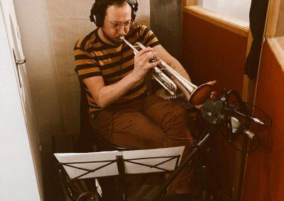 en studio avec Quentin Ghomari